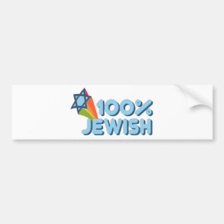 100 JEWISH + Magen David Bumper Stickers