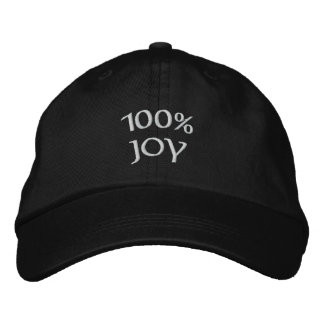 100% joy embroidered hat