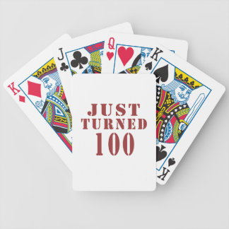 100 Just Turned Birthday Bicycle Playing Cards