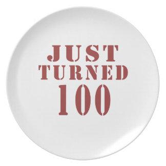100 Just Turned Birthday Plate