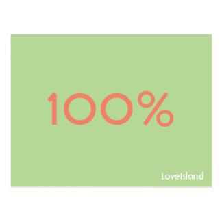 100% Love Island Postcard