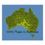 100% Made in Australia Poster