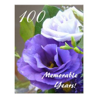 100 Memorable Years -Birthday Celebration Personalized Invitation