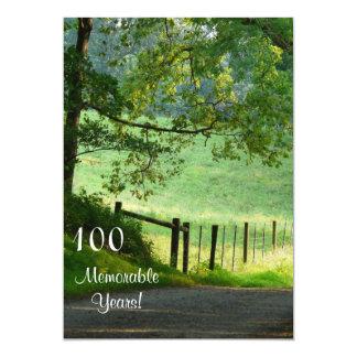 100 Memorable Years/Birthday Celebration-Landscape Personalized Invites