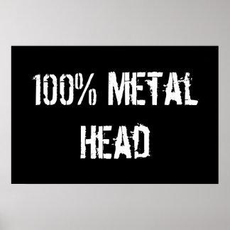 100% Metal Head Posters