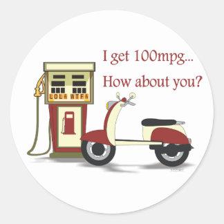 100 mpg Sticker