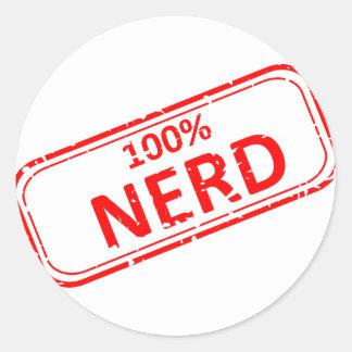 100% Nerd Rubber-stamp Sticker