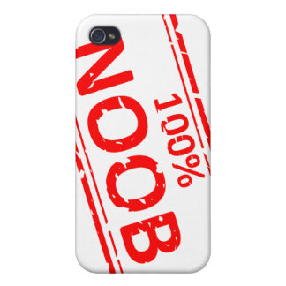 100% Noob Rubber-stamp Cases For iPhone 4