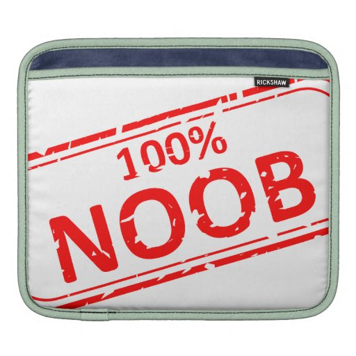 100% Noob Rubber-stamp Sleeves For iPads