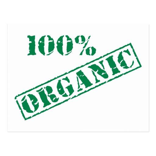 100% ORGANIC Earth Day Postcards