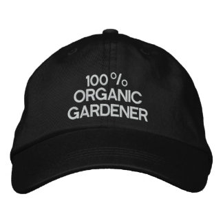 100% Organic Gardener Embroidered Hat