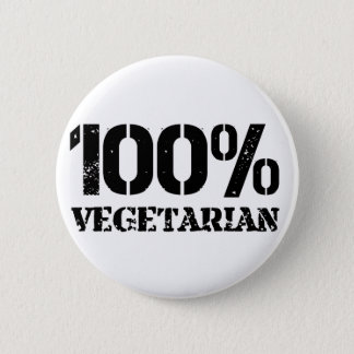 100 Per Cent Vegetarian 6 Cm Round Badge