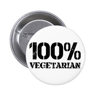 100 Per Cent Vegetarian 6 Cm Round Badge