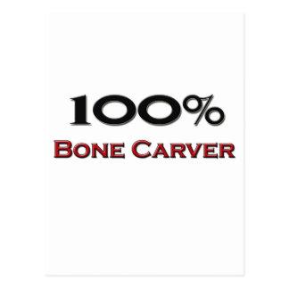 100 Percent Bone Carver Postcard