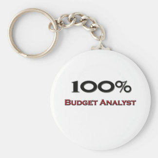 100 Percent Budget Analyst Basic Round Button Key Ring