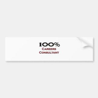 100 Percent Careers Consultant Bumper Sticker