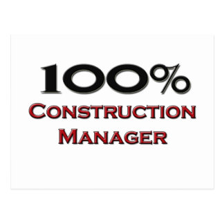 100 Percent Construction Manager Post Cards