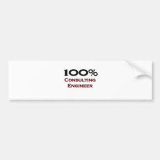 100 Percent Consulting Engineer Bumper Stickers