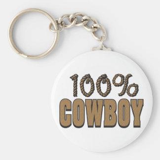 100 Percent Cowboy Key Ring