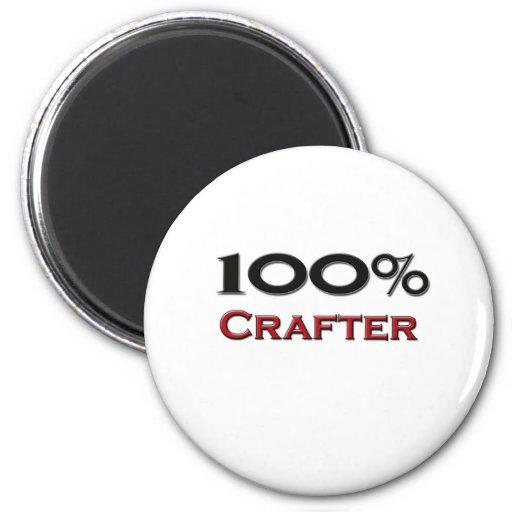 100 Percent Crafter Fridge Magnet