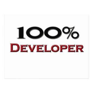 100 Percent Developer Postcard