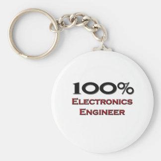 100 Percent Electronics Engineer Key Ring