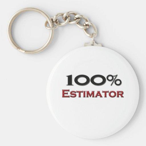 100 Percent Estimator Keychain