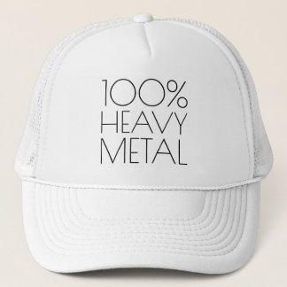 100 percent heavy metal funny trucker hat