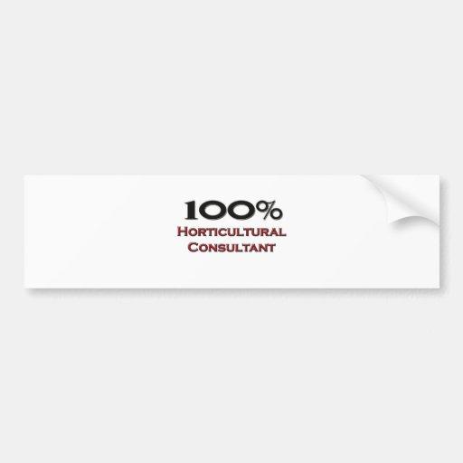 100 Percent Horticultural Consultant Bumper Stickers