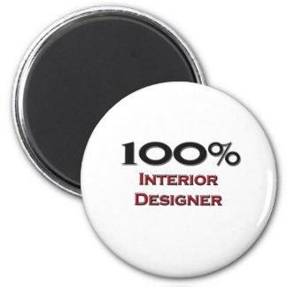 100 Percent Interior Designer Refrigerator Magnet