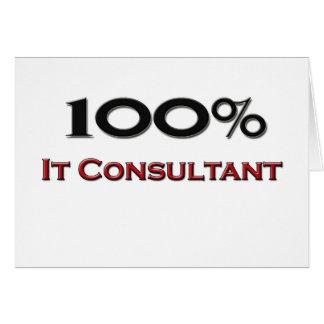 100 Percent It Consultant Card