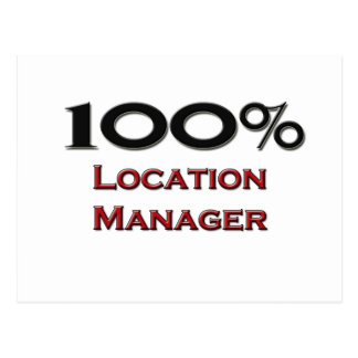 100 Percent Location Manager Postcard