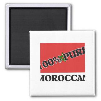 100 Percent MOROCCAN Square Magnet