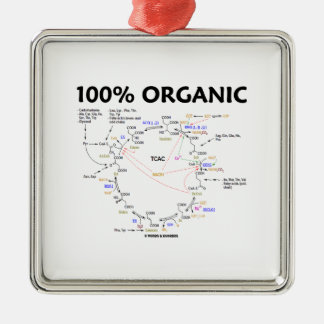 100 Percent Organic Krebs Cycle TCAC Metal Ornament