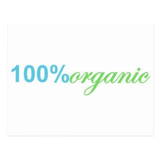 100 Percent Organic Postcard