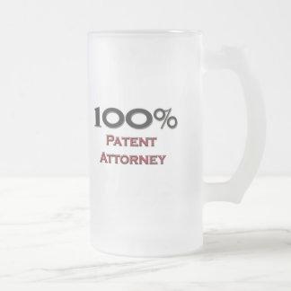 100 Percent Patent Attorney Coffee Mugs