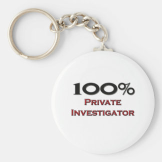100 Percent Private Investigator Basic Round Button Key Ring