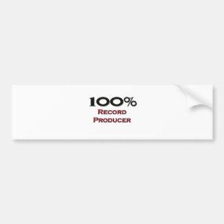 100 Percent Record Producer Bumper Sticker