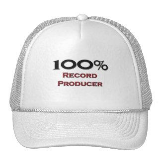 100 Percent Record Producer Trucker Hats