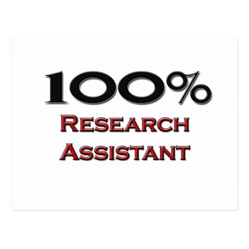 100 Percent Research Assistant Post Cards