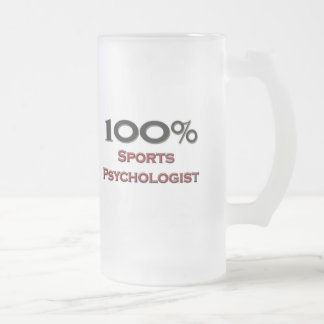100 Percent Sports Psychologist Frosted Glass Beer Mug