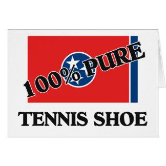 100 Percent Tennis Shoe Greeting Card
