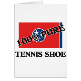100 Percent Tennis Shoe Greeting Cards