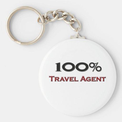 100 Percent Travel Agent Key Chain
