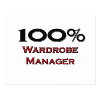 100 Percent Wardrobe Manager Post Cards