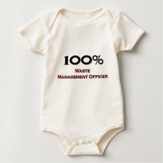 100 Percent Waste Management Officer Baby Bodysuit