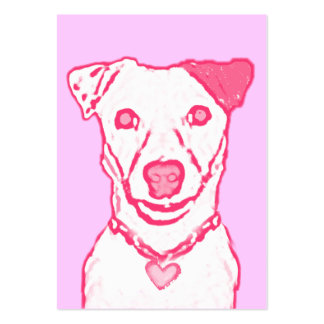 100 Pink Puppy Valentines Pack Of Chubby Business Cards