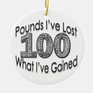 100 Pounds Lost Ornament
