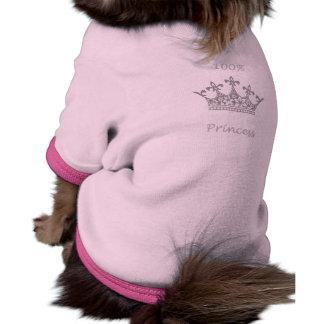 100% Princess Doggie Ribbed Top Doggie Tee Shirt