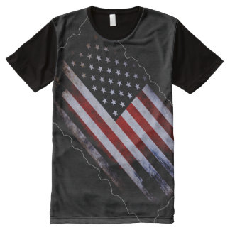100% Proud American Inside World Flag All-Over Print T-Shirt